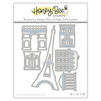 Honey Bee Stamps - Love Letters Collection - Dies - Honey Cuts - Paris Skyline Scene Builder