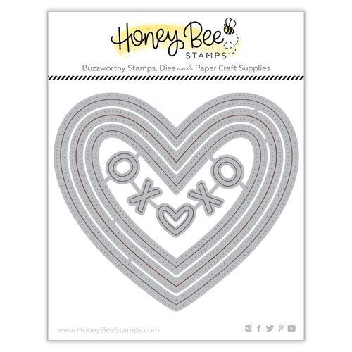 Honey Bee Stamps - Bee Mine Collection - Honey Cuts - Steel Craft Dies - Pierced XOXO Hearts