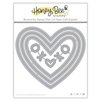 Honey Bee Stamps - Bee Mine Collection - Honey Cuts - Steel Craft Dies - Pierced XOXO Hearts