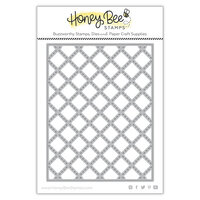 Honey Bee Stamps - Love Letters Collection - Dies - Honey Cuts - Quilted A2 Cover Plate