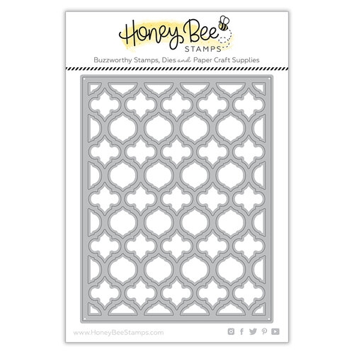Honey Bee Stamps - Dies - Honey Cuts - Quatrefoil A2 Cover Plate - Top