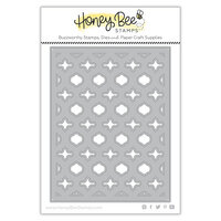Honey Bee Stamps - Dies - Honey Cuts - Quatrefoil A2 Cover Plate - Base