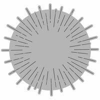 Honey Bee Stamps - Honey Cuts - Steel Craft Dies - Radiant Circle Background