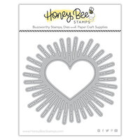 Honey Bee Stamps - Love Letters Collection - Honey Cuts - Steel Craft Dies - Radiant Heart