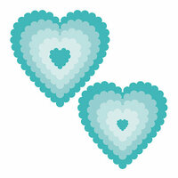 Honey Bee Stamps - Honey Cuts - Steel Craft Dies - Scallop Hearts