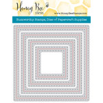 Honey Bee Stamps - Honey Cuts - Steel Craft Dies - Square Double Stitched Frames