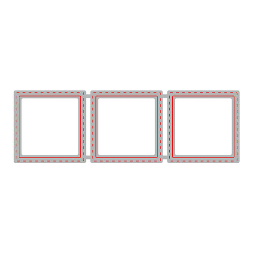 Honey Bee Stamps - Honey Cuts - Steel Craft Dies - Square Windows Trio
