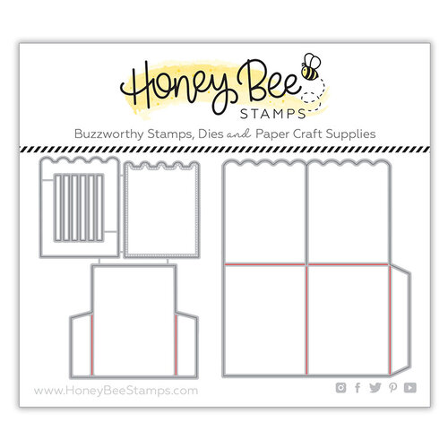 Honey Bee Stamps - Honey Cuts - Steel Craft Dies - A2 Surprise Box Card Base