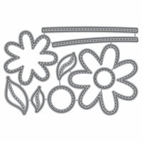 Honey Bee Stamps - Honey Cuts - Steel Craft Dies - Stitched Flowers