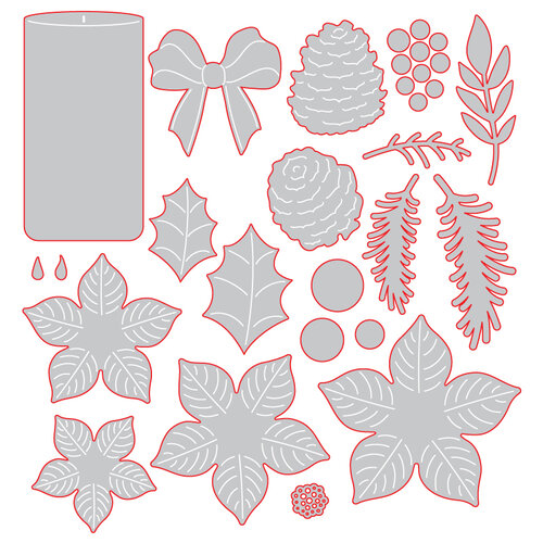 Honey Bee Stamps - Christmas - Honey Cuts - Steel Craft Dies - Winter Bouquets