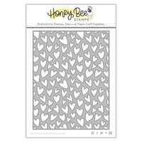 Honey Bee Stamps - Love Letters Collection - Dies - Honey Cuts - Whimsical Hearts A2 Cover plate