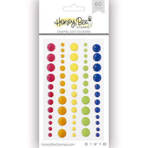 Honey Bee Stamps - Enamel Stickers - Over The Rainbow