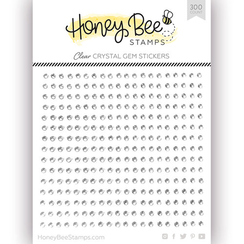 Honey Bee Stamps - Gem Stickers - Crystal Clear