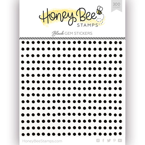 Honey Bee Stamps - Gem Stickers - Black