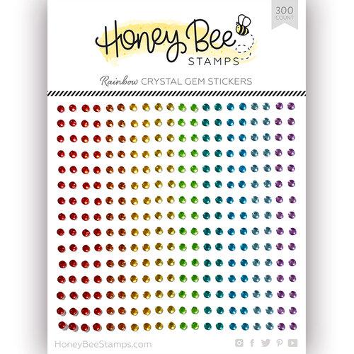 Honey Bee Stamps - Gem Stickers - Rainbow