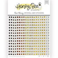 Honey Bee Stamps - Gem Stickers - Raw Honey Crystal