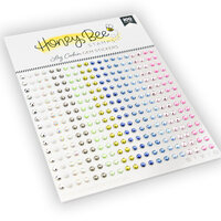 Honey Bee Stamps - Gem Stickers - Log Cabin