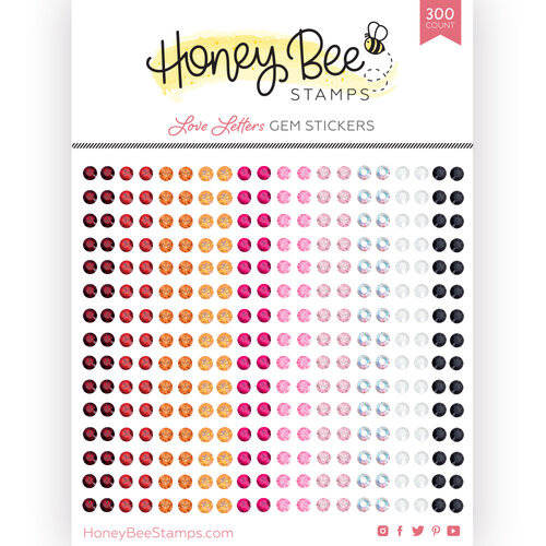 Honey Bee Stamps - Love Letters Collection - Gem Stickers