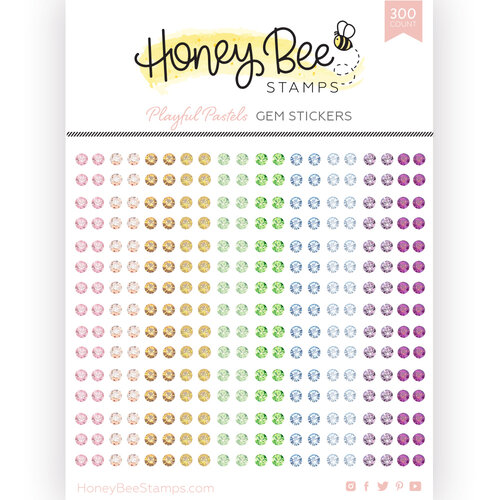 Honey Bee Stamps - Gem Stickers - Playful Pastels