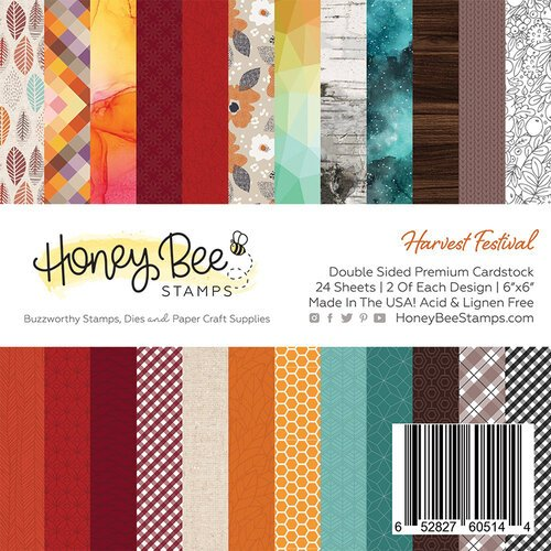 Honey Bee Stamps - 6 x 6 Paper Pad - Harvest Festival