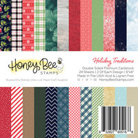 Honey Bee Stamps - Christmas - 6 x 6 Paper Pad - Holiday Traditions