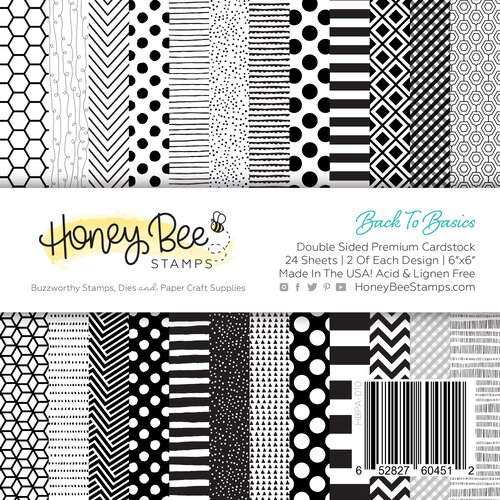 Honey Bee Stamps - 6 x 6 Paper Pad - Back To Basics
