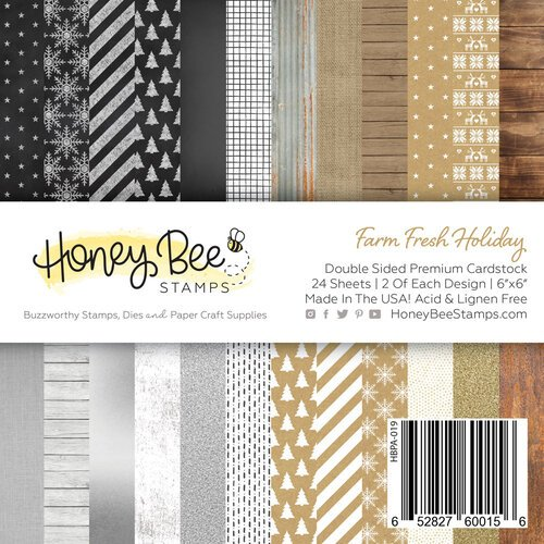 Honey Bee Stamps - 6 x 6 Paper Pad - Farm Fresh Holiday