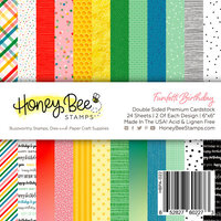 Honey Bee Stamps - Let's Celebrate Collection - 6 x 6 Paper Pad - Funfetti Birthday
