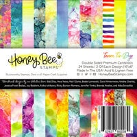 Honey Bee Stamps - Let's Celebrate Collection - 6 x 6 Paper Pad - Team Tie-Dye