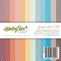 Honey Bee Stamps - Autumn Splendor Collection - 6 x 6 Paper Pad - Gingham Galore