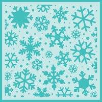 Honey Bee Stamps - Christmas - Stencil - Snowfall Background
