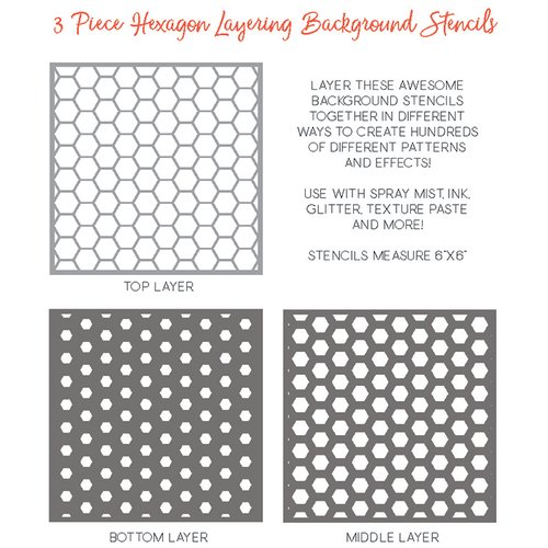 Honey Bee Stamps - Stencil - Stacking Hexagon Background