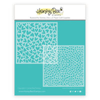Honey Bee Stamps - Bee Mine Collection - Stencil - Fluttering Hearts