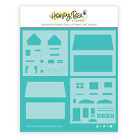 Honey Bee Stamps - Bee Mine Collection - Stencil and Mask - House Builder