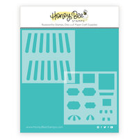 Honey Bee Stamps - Bee Mine Collection - Stencil - Treat Shop Add-On