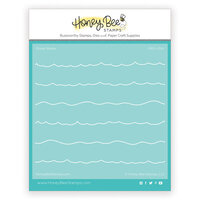 Honey Bee Stamps - Paradise Collection - Stencils - Ocean Waves