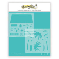 Honey Bee Stamps - Paradise Collection - Stencils - Beach House