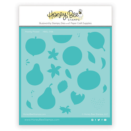 Honey Bee Stamps - Paradise Collection - Stencils - Freshly Pickled