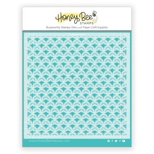 Honey Bee Stamps - Paradise Collection - Stencils - Pineapple Lattice