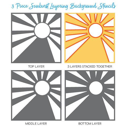 Honey Bee Stamps - Stencil - Sunburst Layering Background