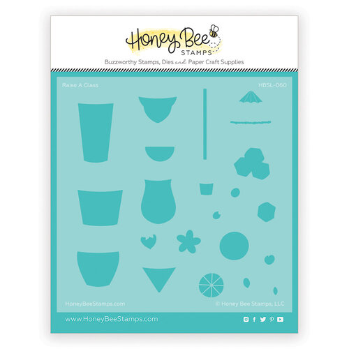 Honey Bee Stamps - Paradise Collection - Stencils - Raise a Glass