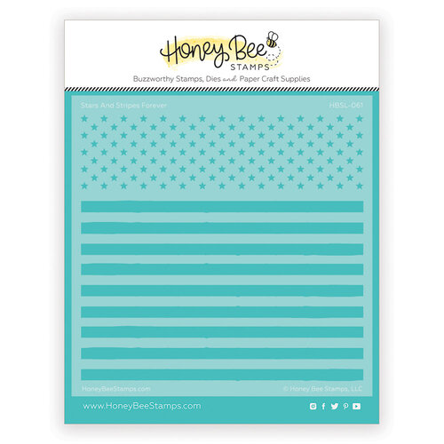 Honey Bee Stamps - Paradise Collection - Stencils - Stars and Stripes Forever
