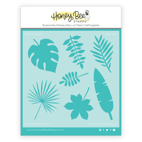Honey Bee Stamps - Paradise Collection - Stencils - Tropical Leaves
