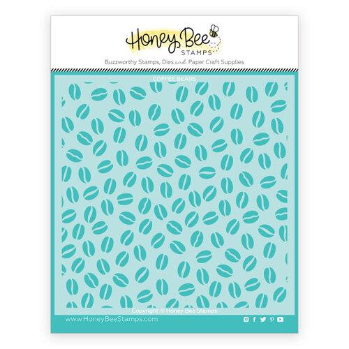 Honey Bee Stamps - Stencils - Coffee Bean Background