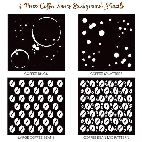 Honey Bee Stamps - Stencil - Coffee Lovers Background
