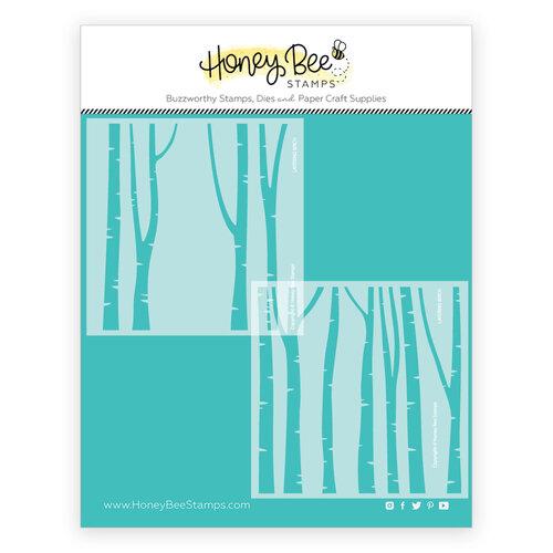 Honey Bee Stamps - Stencils - Layering Birch Trees