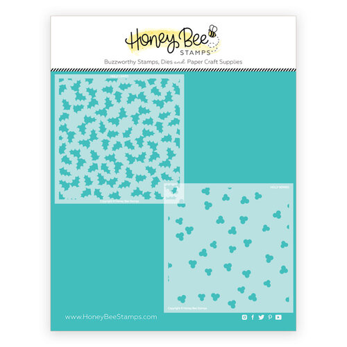Honey Bee Stamps - Stencils - Holly and Berries