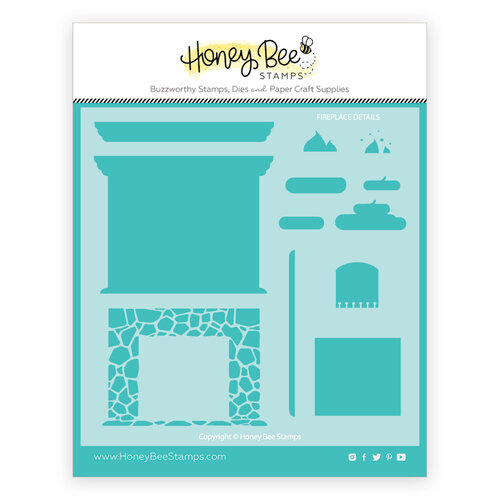 Honey Bee Stamps - Stencils - Fireplace Details