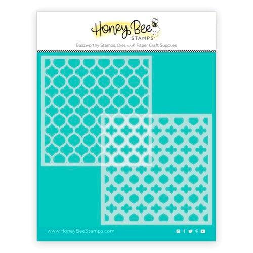 Honey Bee Stamps - Stencils - Quatrefoil Layers