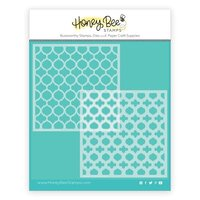 Honey Bee Stamps - Stencils - Quatrefoil Layers